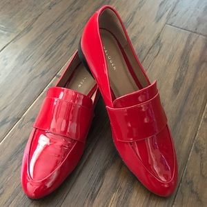 Halogen red loafers